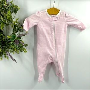 Carter's | Pink and White Striped Footies, NB